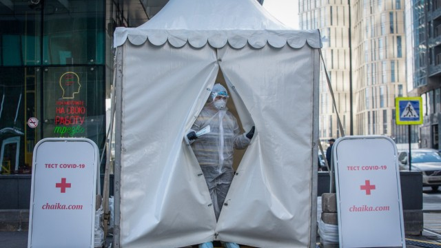 Mobile Coronavirus Testing In Moscow's Business District