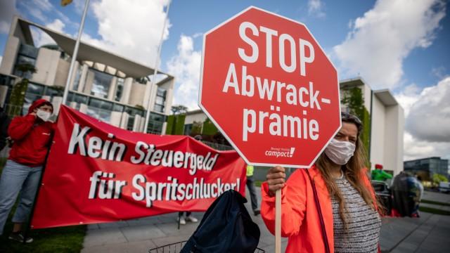 Autogipfel im Kanzleramt - Demonstration