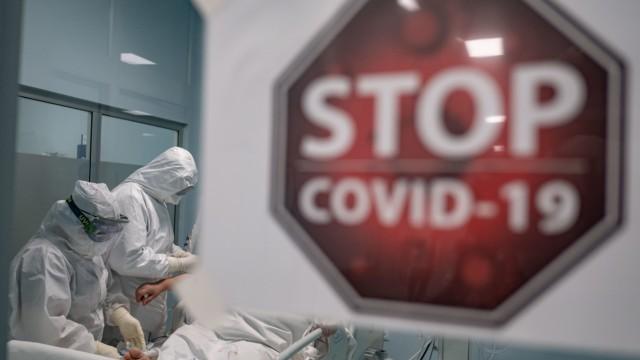 Coronavirus in der Türkei: Behandlung eines Covid-19-Patienten auf einer Intensivstation