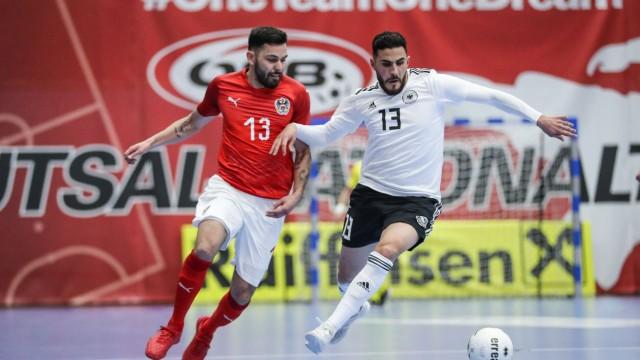 FUTSAL AUT vs GER test match MARIA ENZERSDORF AUSTRIA 12 APR 19 FUTSAL OEFB international mat; Futsal - Nationalmannschaft Deutschland - Muhammet Sözer
