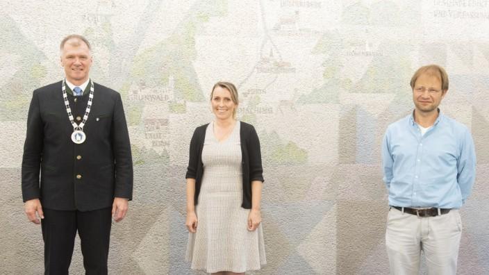 Oberhaching, konstituierende Gemeinderatssitzung, Stefan Schelle BM, Nina Hartmann, neue 3. Bürgermeisterin, Ludwig Pichler, 2. Bürgermeister