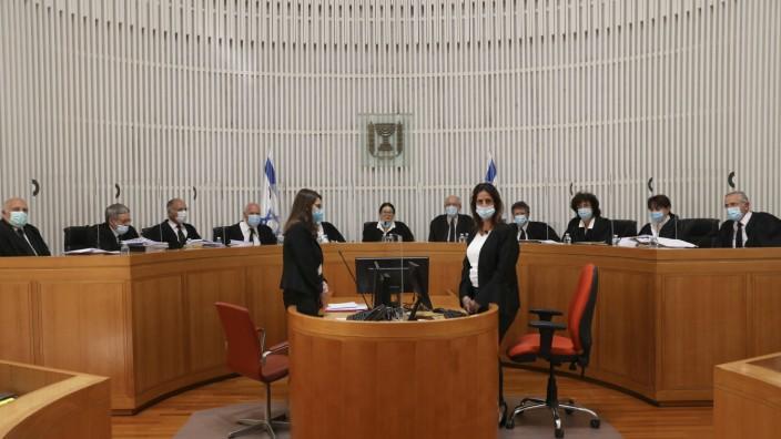 Sitzung des Obersten Gerichtshofs in Israel