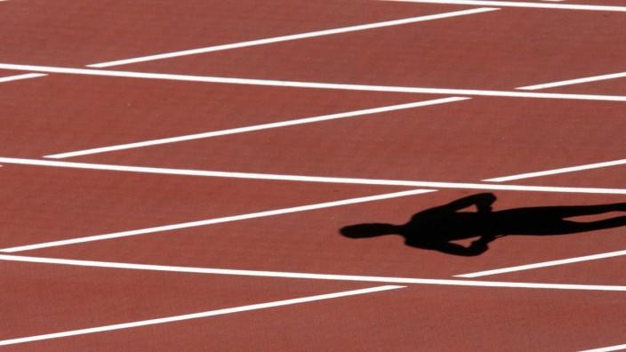 Leichtathletik-EM - Schatten eines Läufers