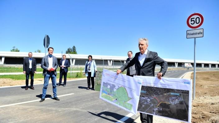 Oberpfaffenhofen: neue Verbindungsstrasse zwischen den beiden Gewerbegebieten