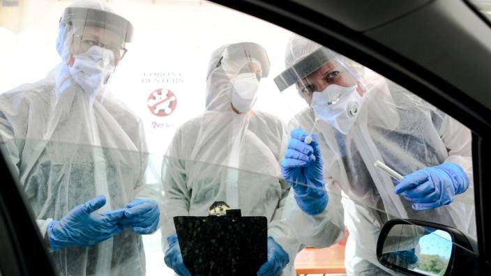 Coronavirus - Berlin: Corona-Test-Einrichtung