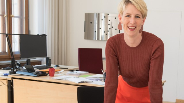 Katrin Habenschaden hat das Büro von ihrer Vorgängerin Christine Strobl übernommen.