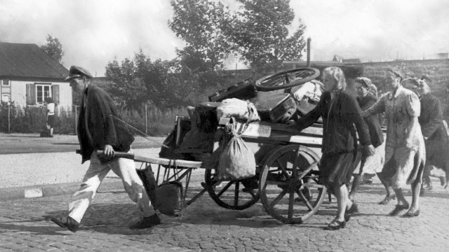 Deutsche Flüchtlinge an der Ostfront, 1945