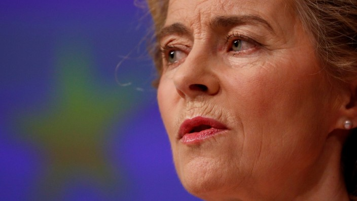 EU-Kommissionspräsidentin Ursula von der Leyen in Brüssel 2020