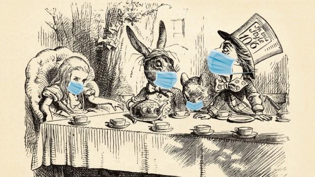 Alice im Wunderland Masken Corona