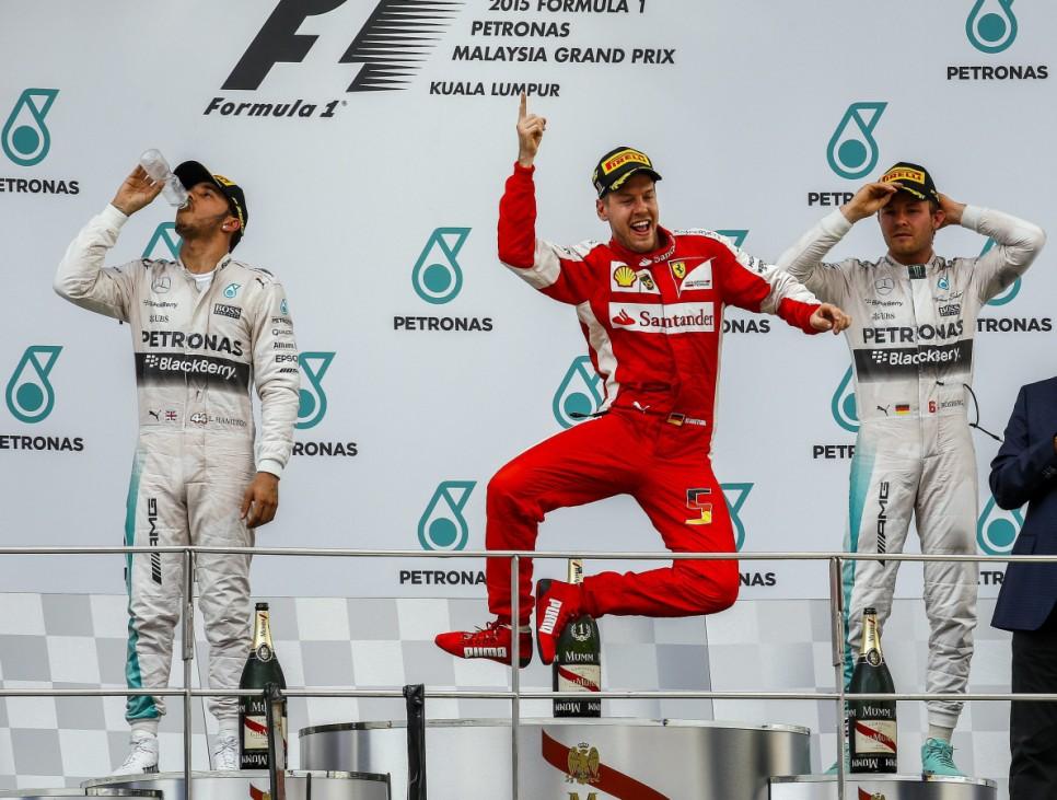 Hamilton, Vettel und Rosberg