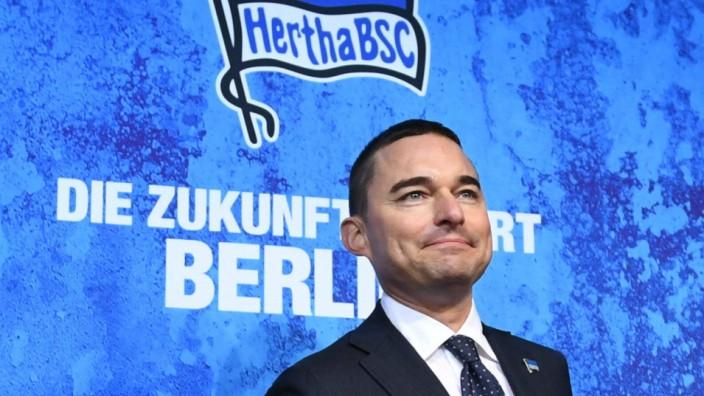 Fussball, Herren, Saison 2019/2020, 1. Bundesliga, Hertha BSC, Presssekonferenz, Investor Lars Windhorst (Hertha BSC), 1
