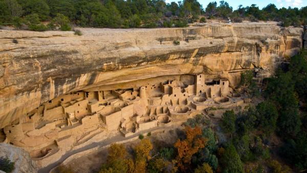 North America, USA, Colorado, Cortez, Mesa Verde, cliff dwelling, Cliff Palace PUBLICATIONxINxGERxSUIxAUTxHUNxONLY Âbpfr
