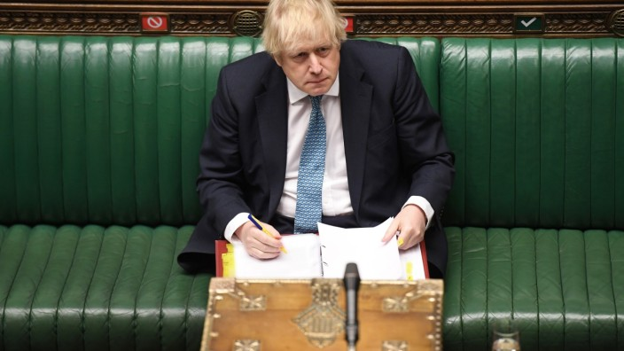Prime Minister's Questions in the House of Commons Chamber in London
