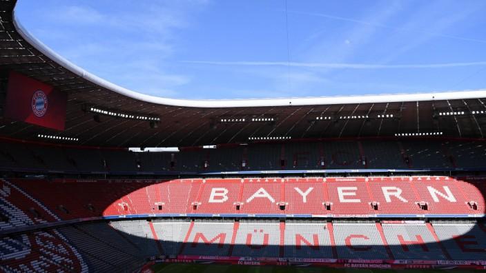 Fussball 1 Bundesliga Saison 2018 2019 26 Spieltag FC Bayern Muenchen 1 FSV Mainz 05 17 03 2019; FC Bayern, Stadion leer, Innenansicht
