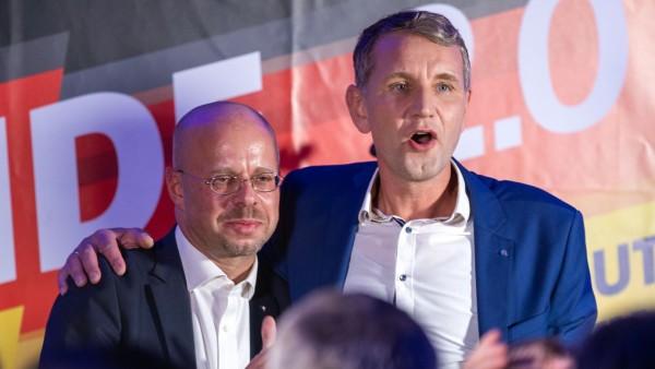 Andreas Kalbitz und Björn Höcke