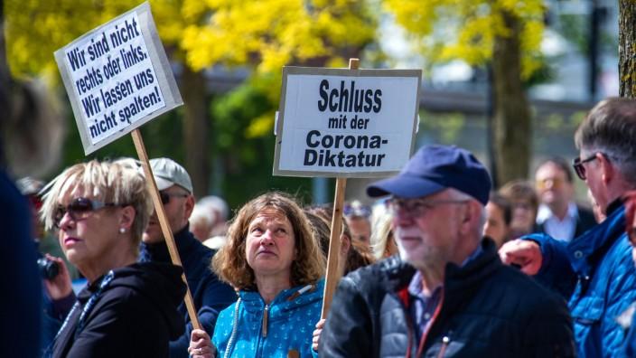 Coronavirus - Proteste gegen Corona-Einschränkungen