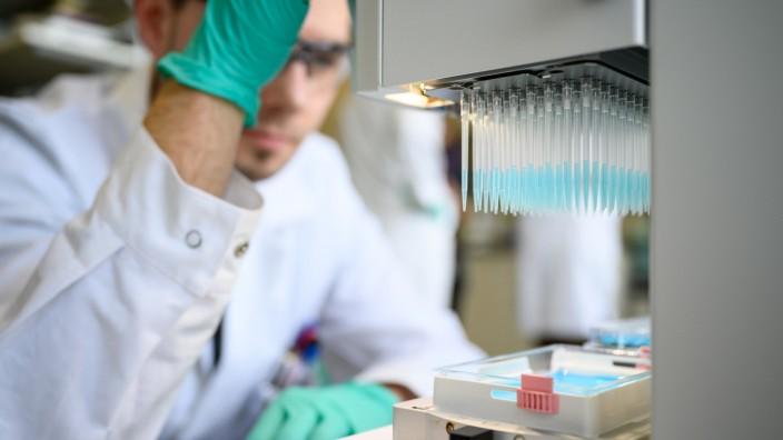 Corona-Impfstoff: Labor des Biotech-Unternehmens CureVac