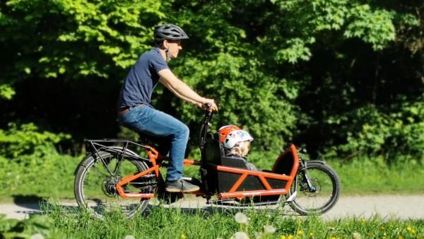 Unterwegs mit dem Lastenrad Load 60 von Riese & Müller