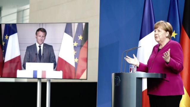 Pressekonferenz Merkel und Macron