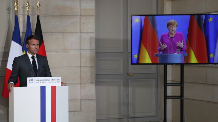 Macron Merkel Corona