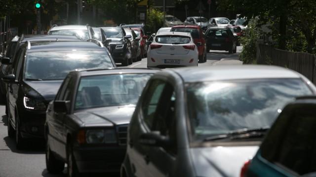 Verkehrschaos in München Pasing, 2019