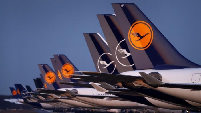 Flugzeuge der Lufthansa in Frankfurt