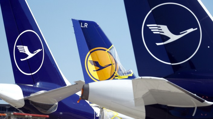 FILE PHOTO: Lufthansa aircraft parked on tarmac in Germany
