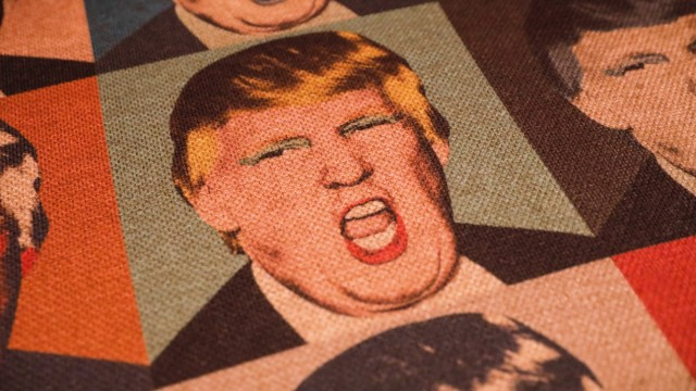 RUS - Moscow city Portraits of Donald Trump decorate the sofas of a restaurant in central Moscow. Moscow, May 2019. MOSC