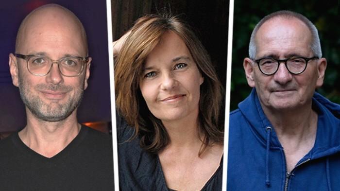 Dreharbeiten unter Pandemie-Bedingungen: Kilian Riedhof, Caroline Link und Dominik Graf (v.l.n.r.)
