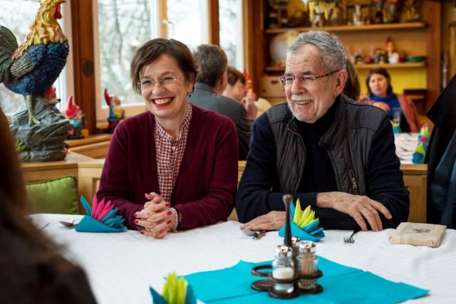 Alexander Van der Bellen und Doris Schmidauer