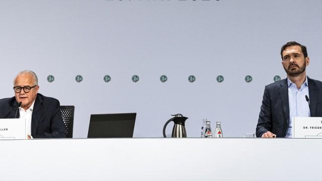 DFB-Präsident Fritz Keller beim DFB-Bundestag während der Corona-Pandemie