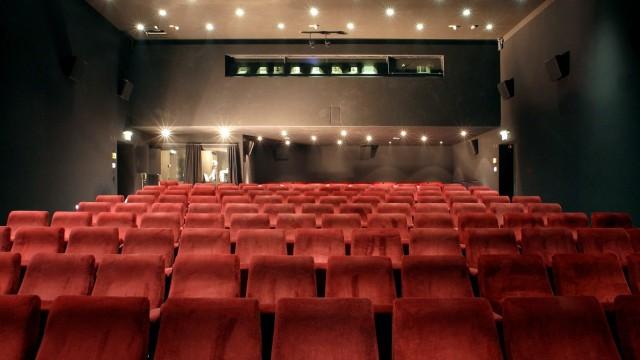 Leerer Vorführsaal im Münchner Filmmuseum