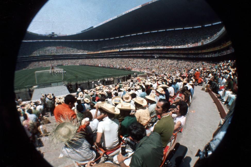 Aztekenstadion in Mexiko City während der WM 1970; WM 1970