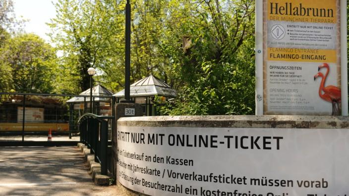 Tierpark Hellabrunn in München vor Wiedereröffnung in der Coronakrise, 2020