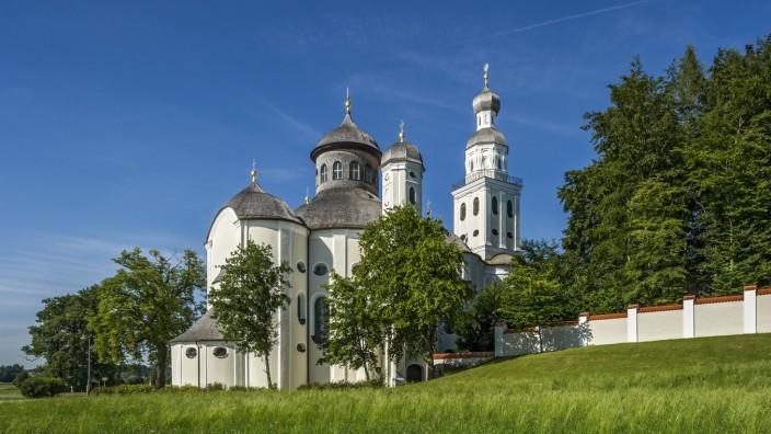 Barocke Wallfahrtskirche Maria Birnbaum Sielenbach Aichach Friedberg Schwaben Bayern Deutschlan