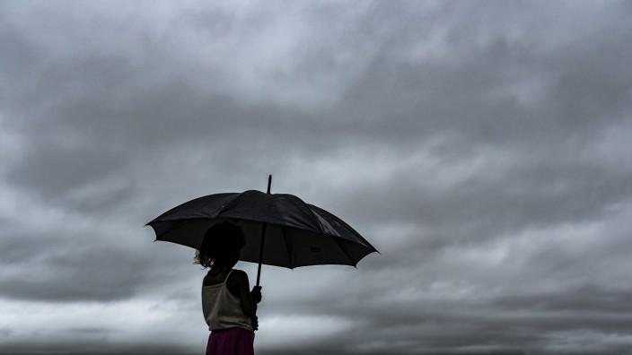 Regenwolken in Assam