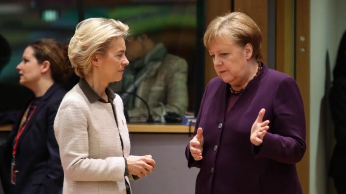 Angela Merkel At The European Council