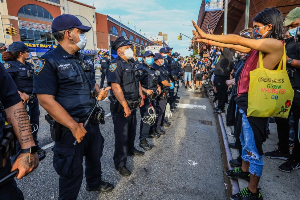 May 29, 2020, New York, New York, USA: Protesters during a Black Lives Matter protest in Brooklyn in New York City in t