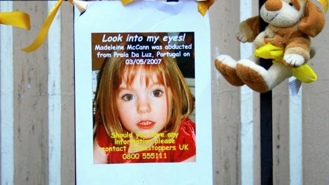 Vermisstenanzeige der entführten Madeleine McCann (GBR) in Gibraltar