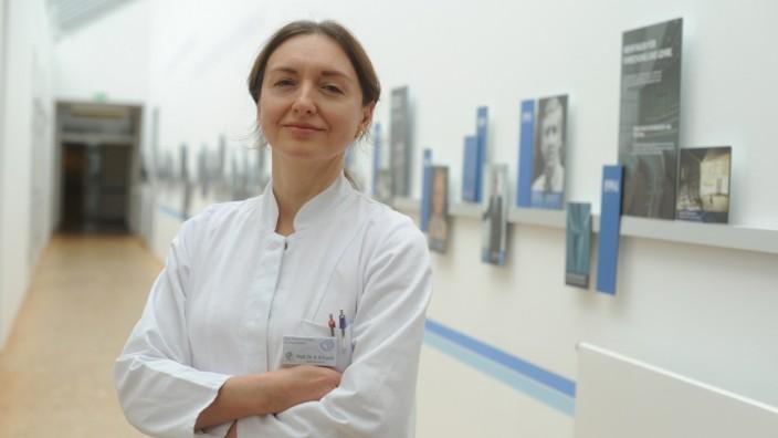 Prof. Angelika Erhardt am Max-Planck-Institut in München, 2020