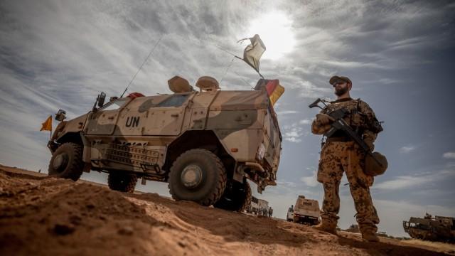 Deutscher UN-Soldat im Einsatz