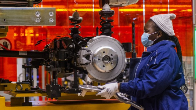 Social Distancing Measures At BMW South Africa Rosslyn Plant