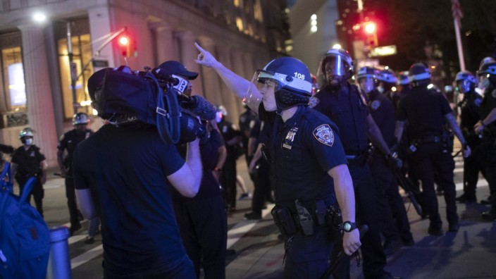 USA Proteste Polizei Presse