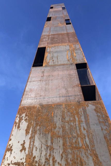 """Unterammergau: 32,4 Meter hoch ist die Klang- und Raumskulptur """"Sichtung III"""", und das ist dem einen oder anderen in Unterammergau einfach zuviel Stahl."""