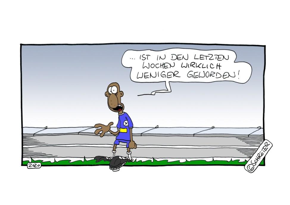 Guido Schröter Fußballgötter Spieltag 30 Rassismus Stadion Comic