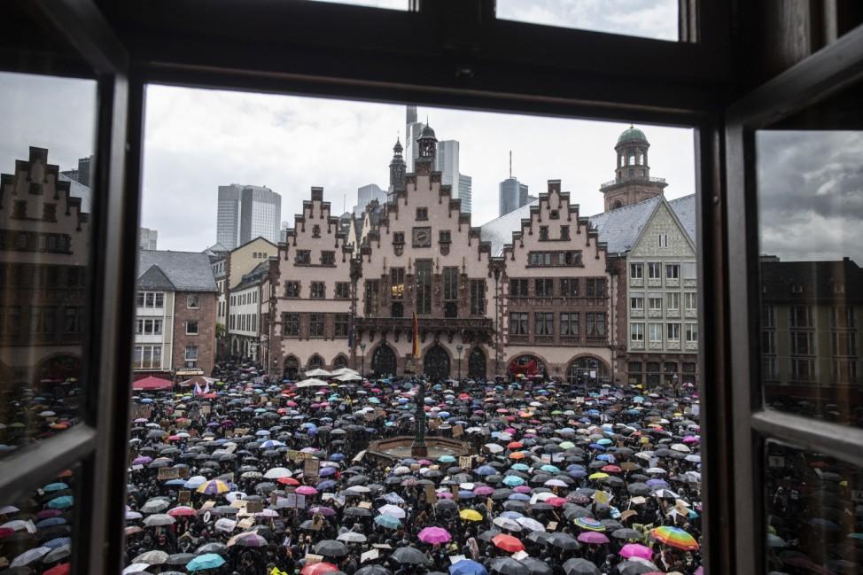 Demonstration gegen Rassismus - Frankfurt