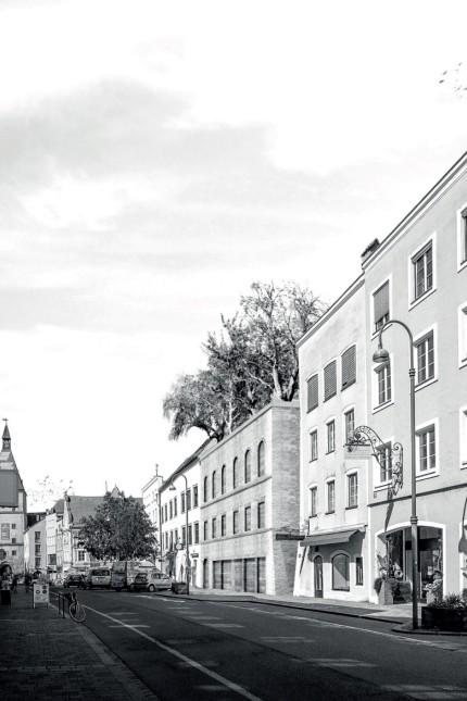 Hitlers Geburtshaus in Braunau am Inn.