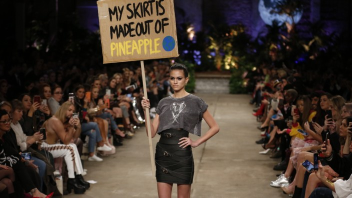 Marina Hoermanseder presents collections MBFW Berlin Fashion Week: Models on the catwalk at the Neuzeit Ost present the