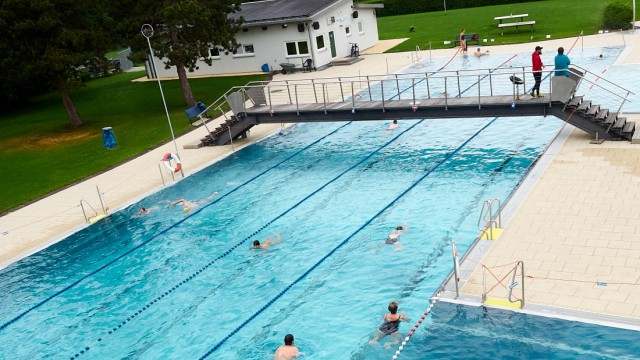 Freibad Grafing - Erster Tag in der Corona-Krise