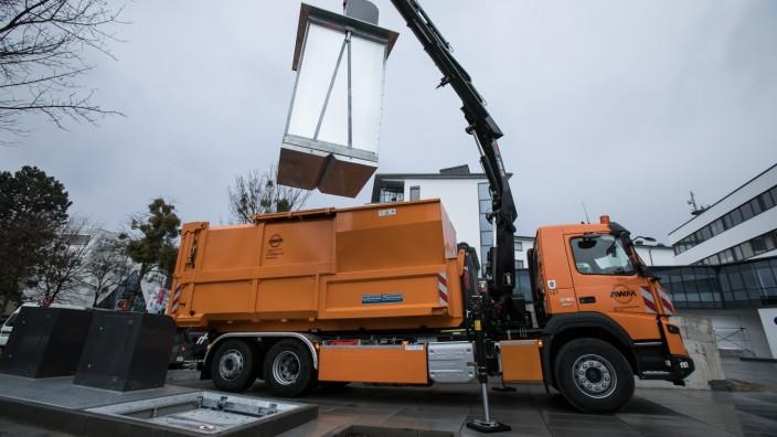 AWM präsentiert neuen Unterflurcontainer in München, 2020